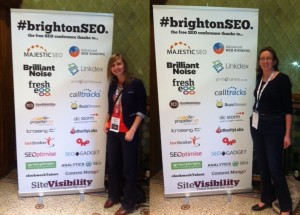 Hannah & Tracey at BrightonSEO