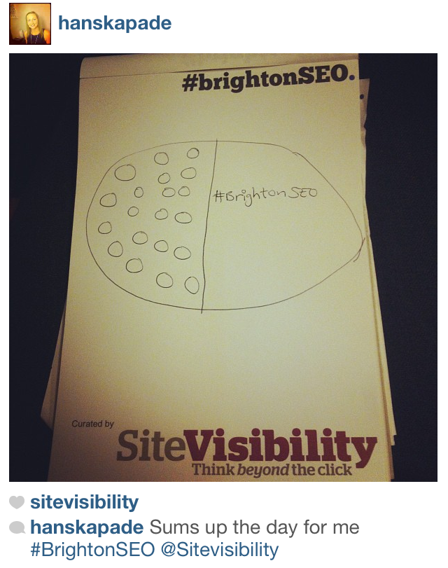 #brightonSEO Instagram Contest Winning Photo