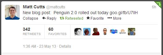 Matt Cutts Confirms Penguin 2.0 on Twitter