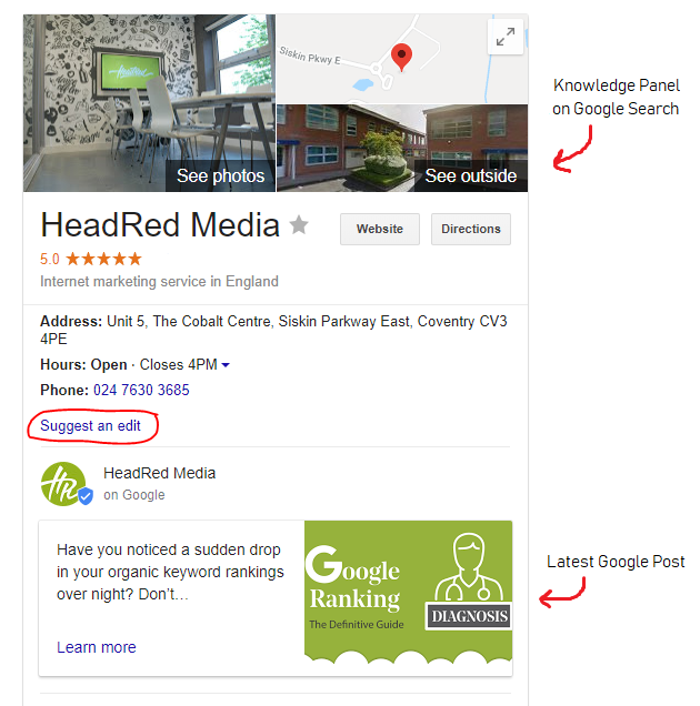 HeadRed Google Knowledge Panel